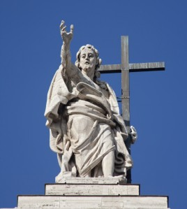 Christ Statue on Lateran Basilica