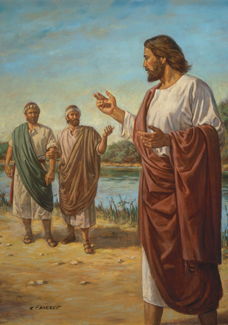 Christ calling the followers of John the Baptist