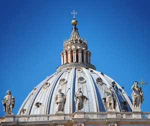 Cupolia of St. Peter's Basillica in Rome